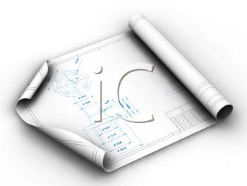 Royalty free . Architect clipart blueprint