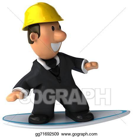 Architect clipart boy. Stock illustration drawing gg