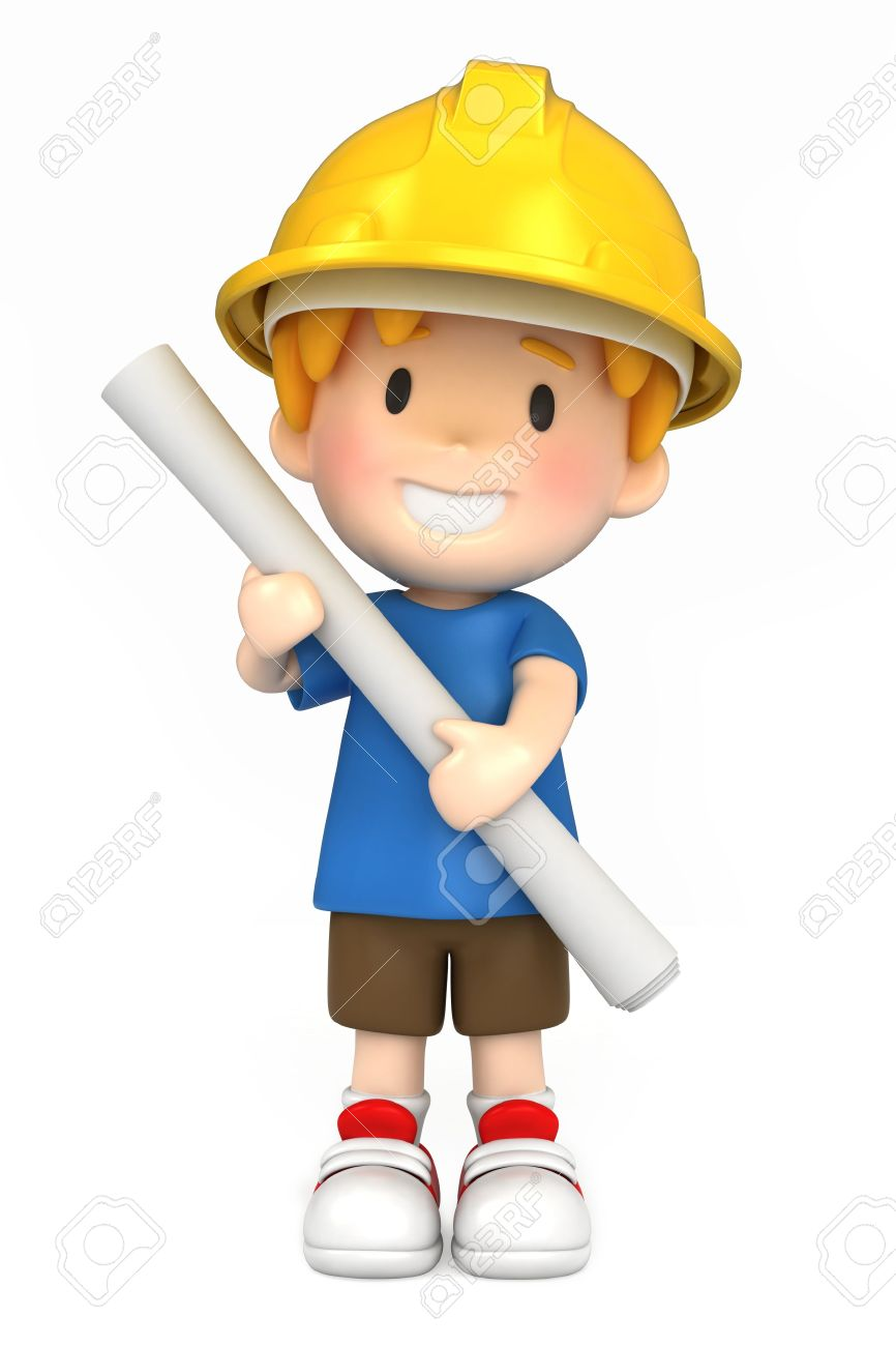 Engineer . Architect clipart boy