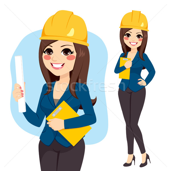 Architect clipart caricature.  collection of woman