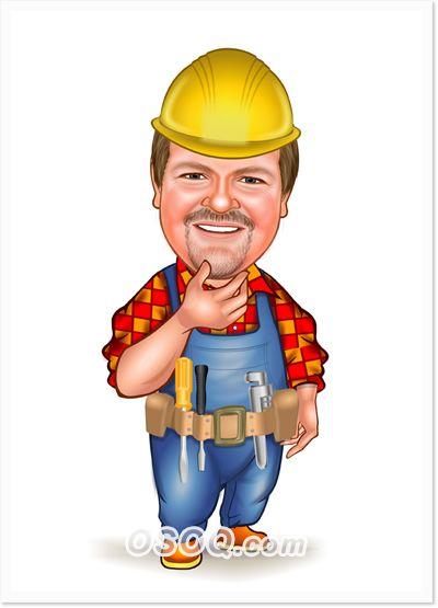 Architect clipart caricature. Construction pinterest