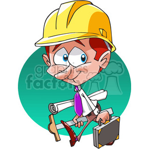 Architect clipart cartoon. Character royalty free