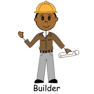 Image home builder or. Architect clipart cartoon