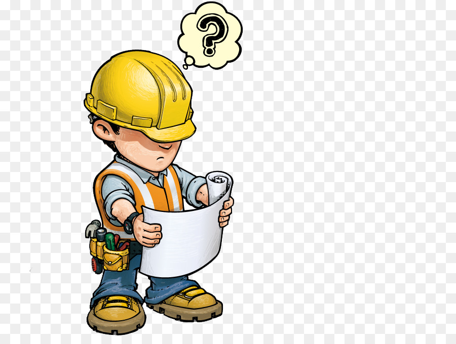 Construction worker architectural cartoon. Engineering clipart child engineer