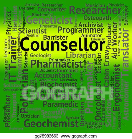Stock illustration counsellor job. Architect clipart consultant