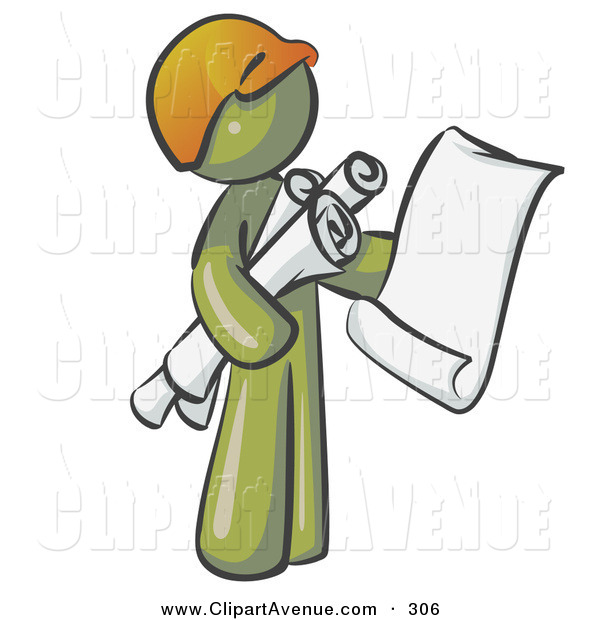 Avenue of a olive. Architect clipart cute