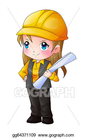 Stock illustration drawing gg. Architect clipart cute