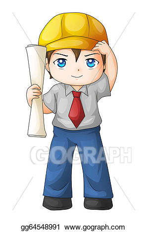 Architect clipart cute. Stock illustration drawing gg