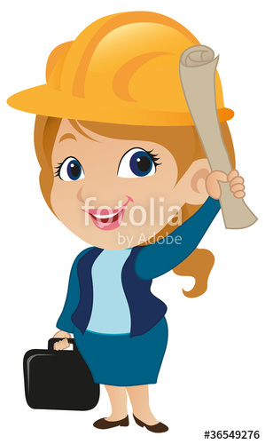 Architect clipart cute. Female stock image and