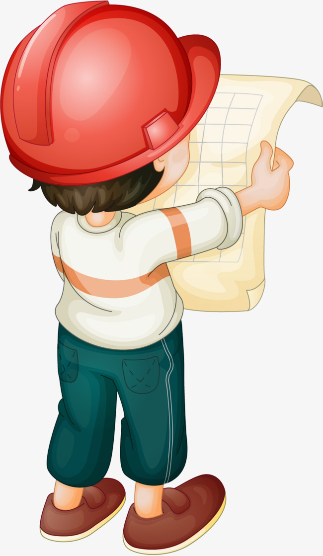 Architect clipart engineer. Look at the drawings