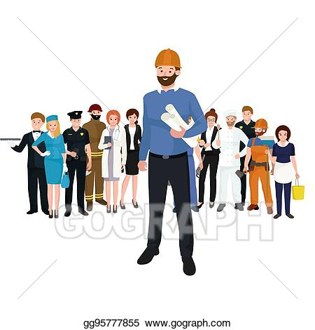Architect clipart engineer. Eps vector civil and