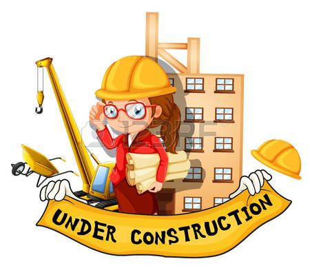 collection of girl. Architect clipart engineer