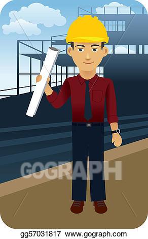 Eps illustration engineer vector. Architect clipart engineering team