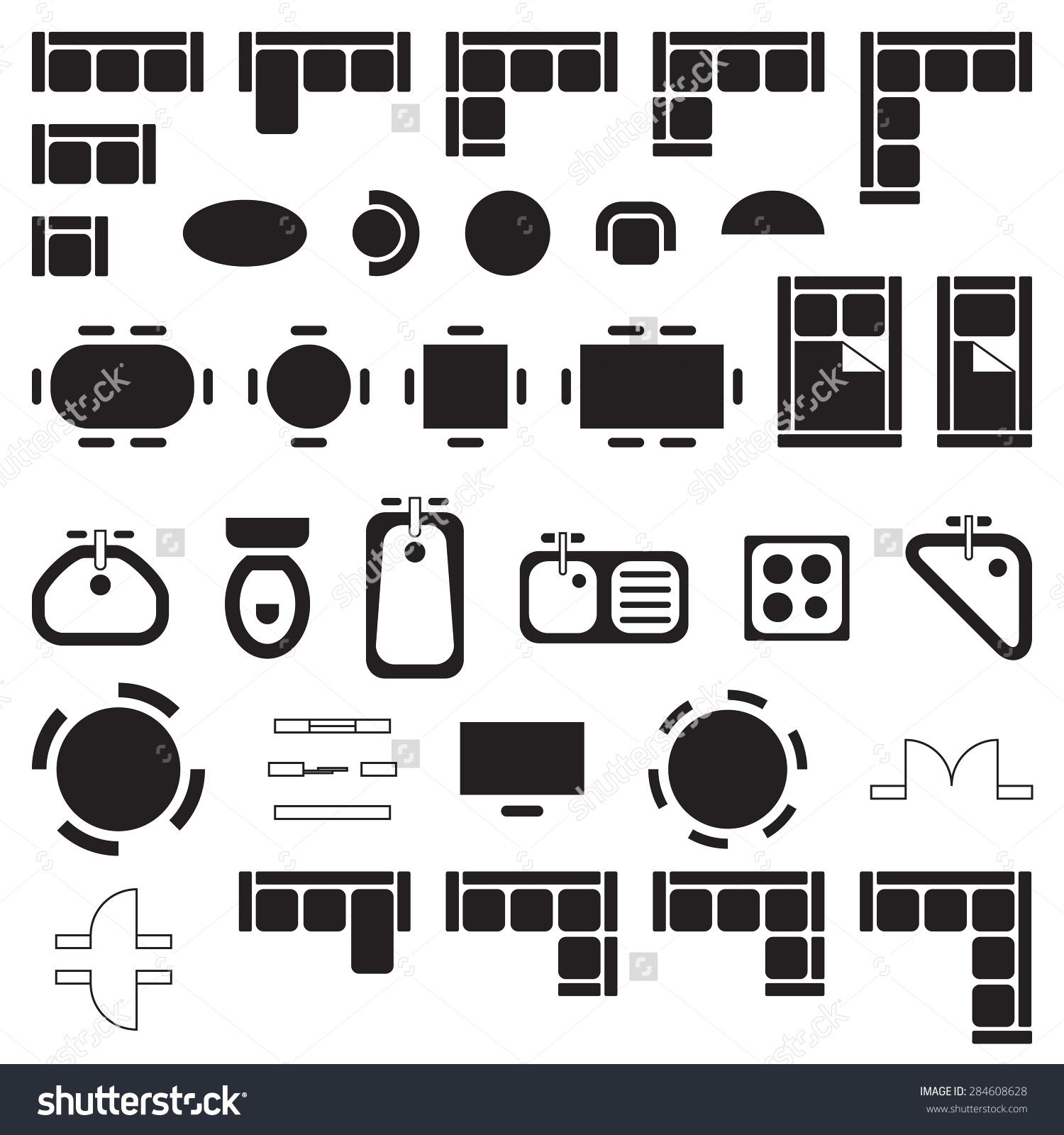 Architect clipart interior decorator. Floor plan symbols clip