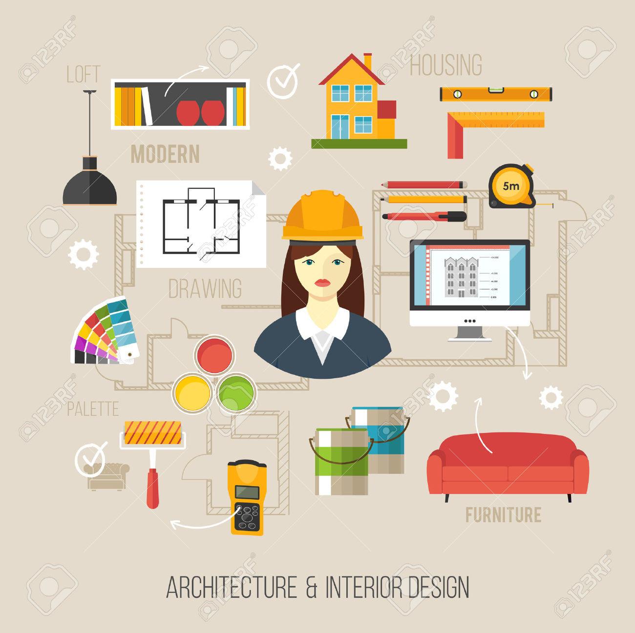 Popular ideas designer clip. Architect clipart interior decorator