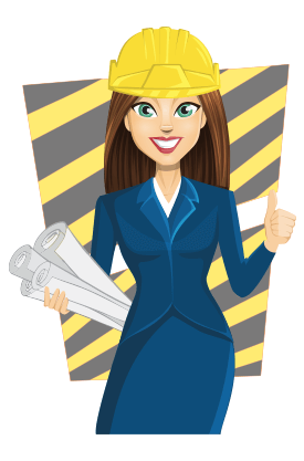 collection of woman. Architect clipart lady