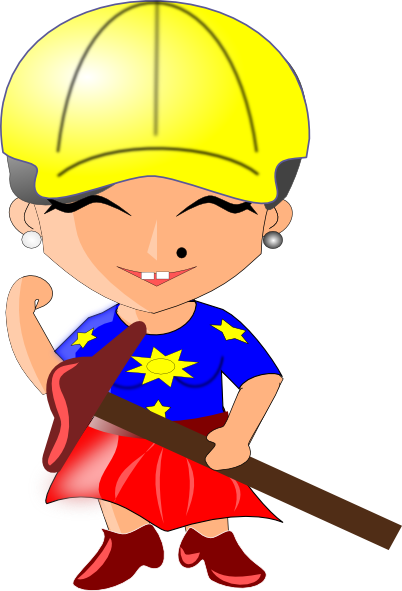 Woman clip art at. Architect clipart lady