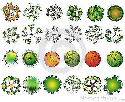 Design symbols set of. Architect clipart landscape architect