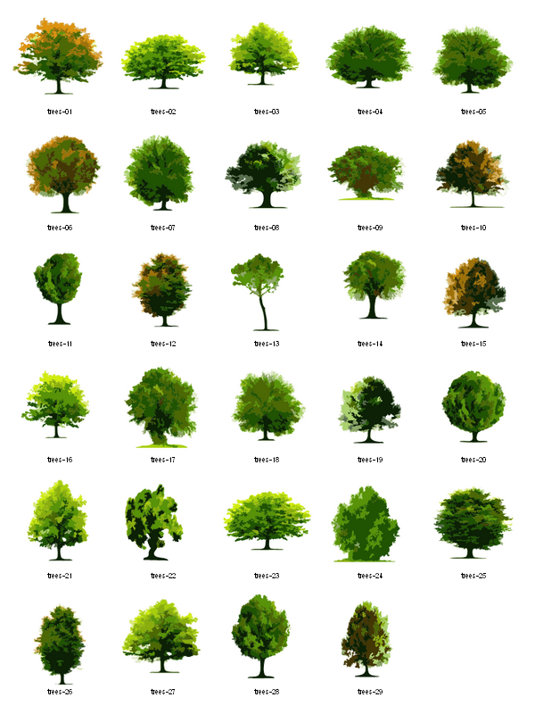 Trees free vector architecture. Architect clipart landscape architect