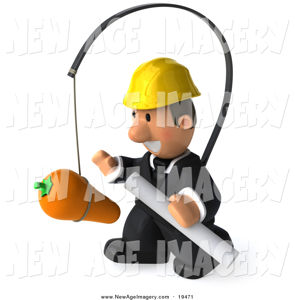 Architect clipart male architect. Illustration of a d