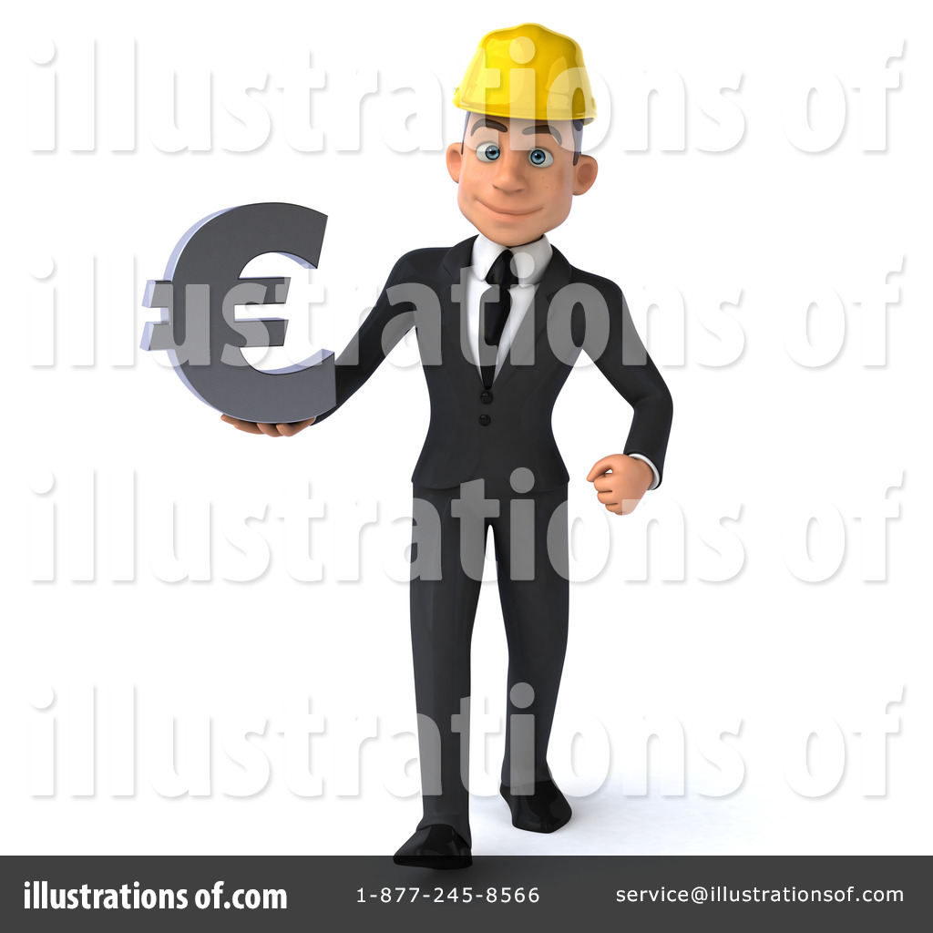 Architect clipart male architect. White illustration by julos