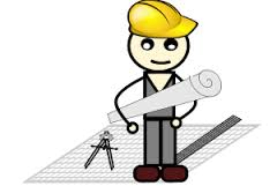 Famous architects of india. Architect clipart man