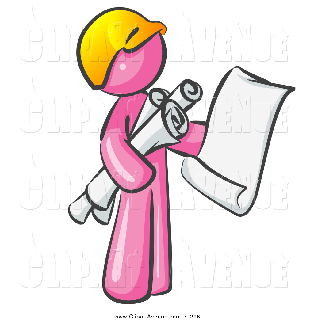 Architect clipart man. Avenue of a pink
