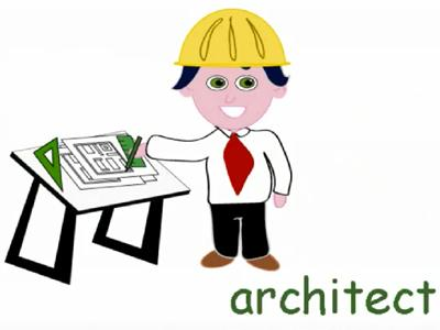 Occupations page professions english. Architect clipart occupation