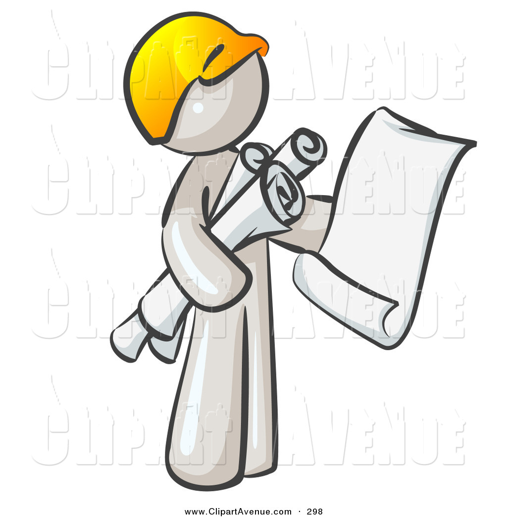 Royalty free stock avenue. Architect clipart occupation