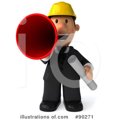 Illustration by julos . Architect clipart occupation