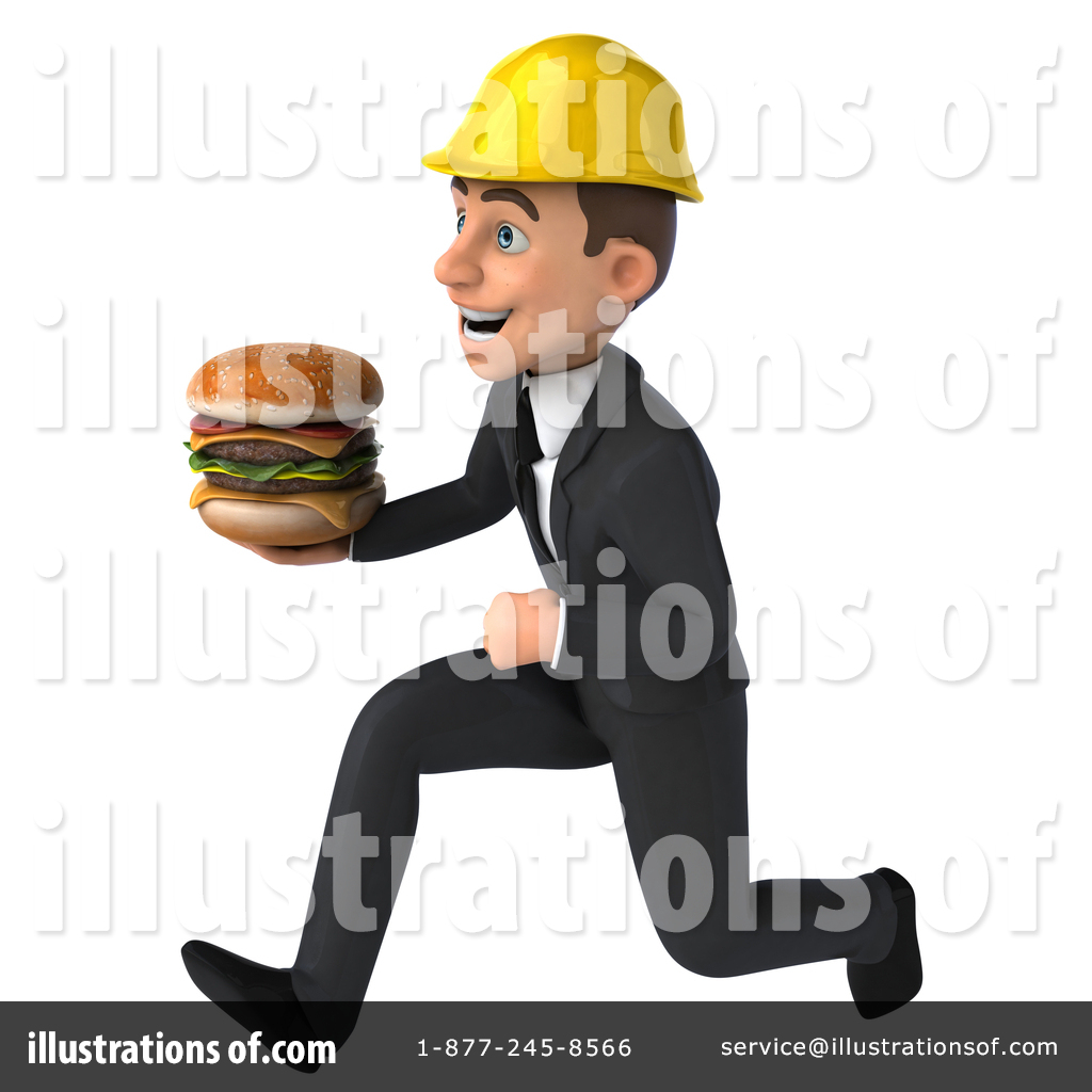 Young white male illustration. Architect clipart person