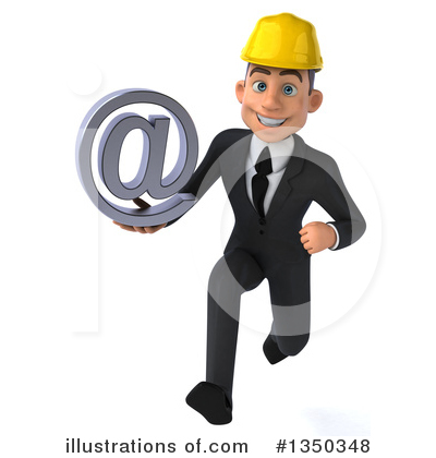 Architect clipart person. White male illustration by