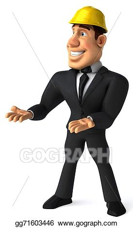 Stock illustration drawing gg. Architect clipart person