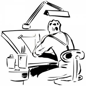 A artist busy at. Architect clipart project