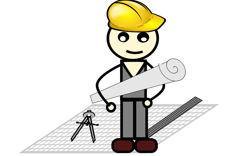 Architect free . Construction clipart contracting