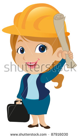 Architect clipart project. Successful male construction worker