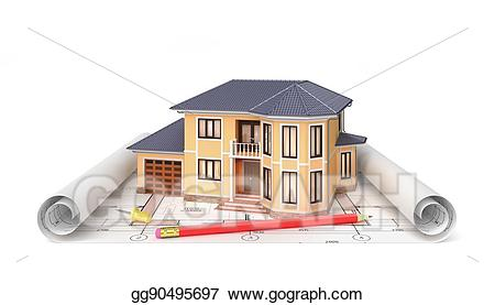 Architect clipart project. Clip art residential house
