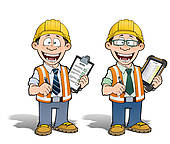 Architect clipart project manager. Stock illustrations royalty free