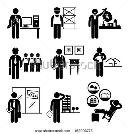 Architect clipart site manager. Construction real estates jobs