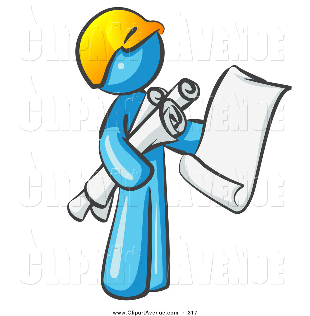 Royalty free stock avenue. Architect clipart site manager