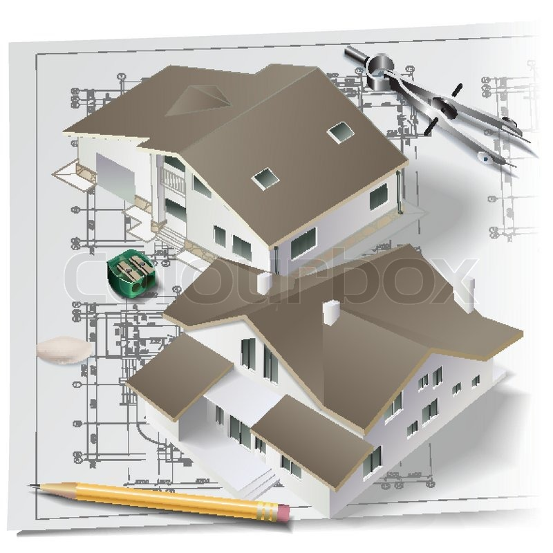collection of drawing. Architect clipart technical drafting