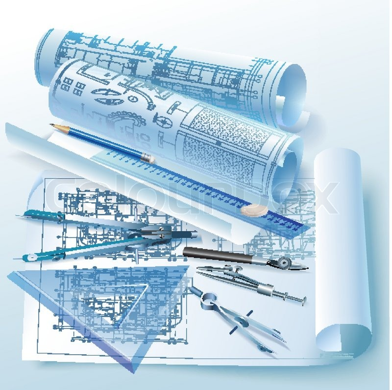 collection of drawing. Draw clipart technical drafting