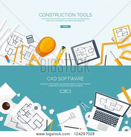 Architect clipart technical drawing. Vector illustration engineering and
