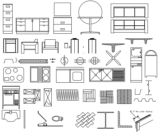 Architecture symbols cliparts zone. Architect clipart technical drawing