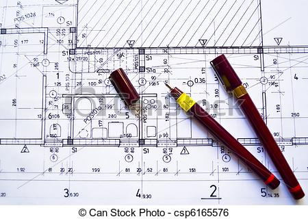 Architect clipart technical drawing. Architecture at work pencil