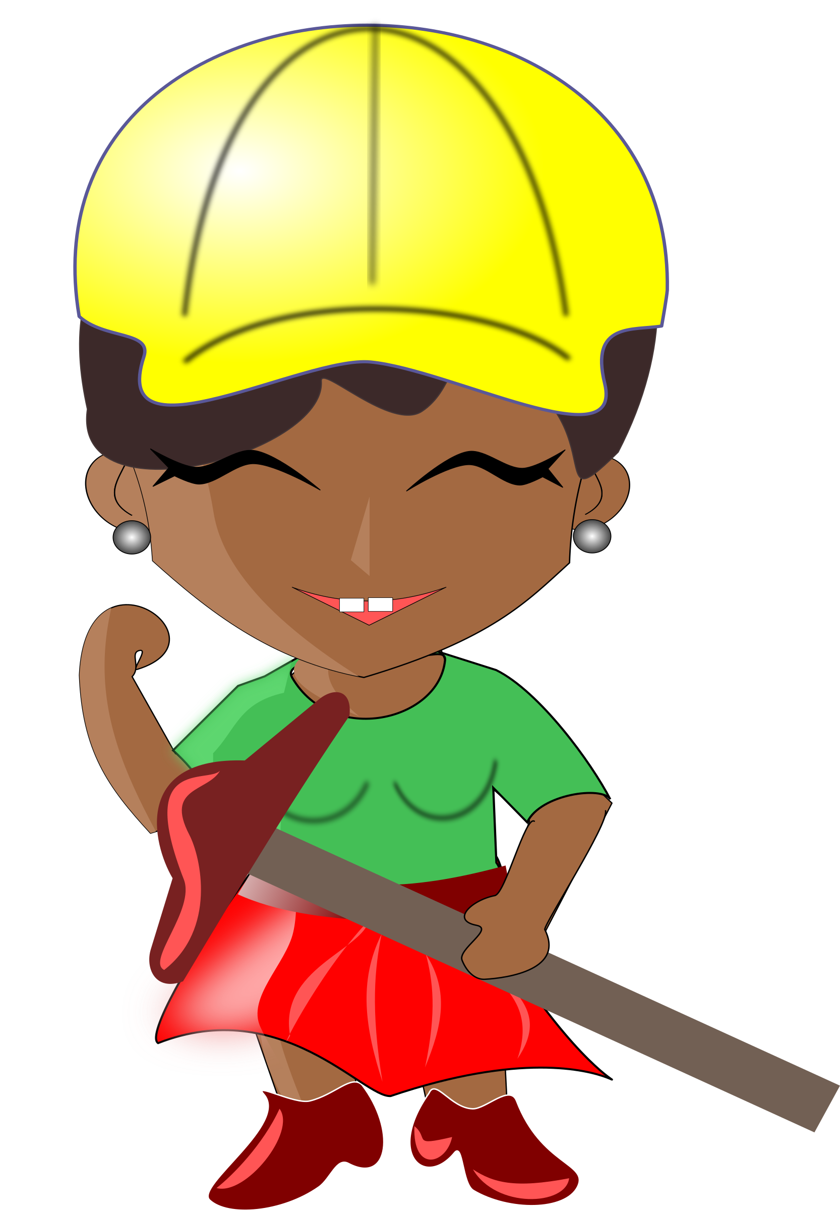 African lady big image. Architect clipart transparent