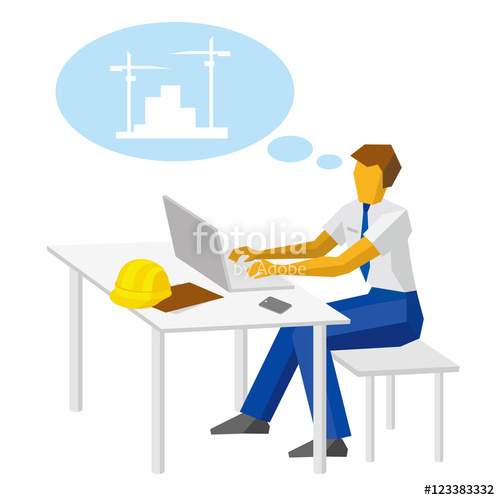 Architect clipart work clipart. Engineer builder with laptop
