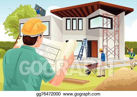 Architect clipart work clipart. Vector illustration working at
