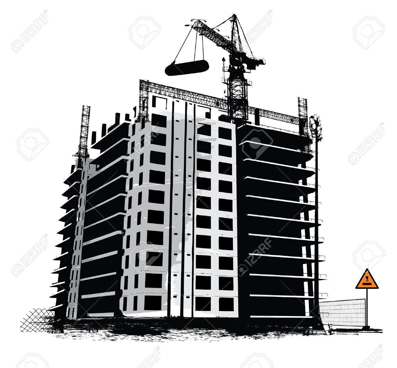 Construction site industrial background. Architect clipart work clipart