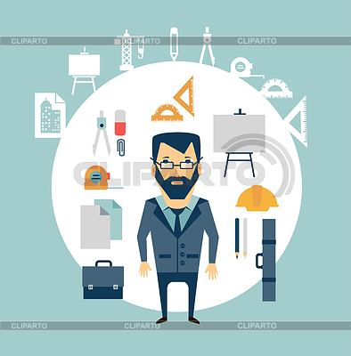 Stock photos and vektor. Architect clipart work clipart
